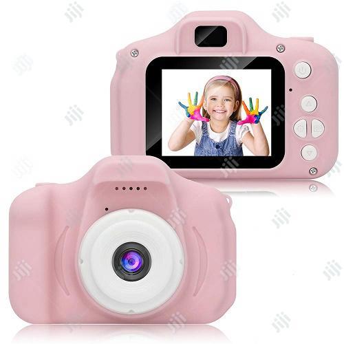 Multipurpose Cartoon Digital Camera For Kids - Pink