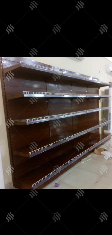 Best Quality Single Sided Supermarket Dispkay Shelving