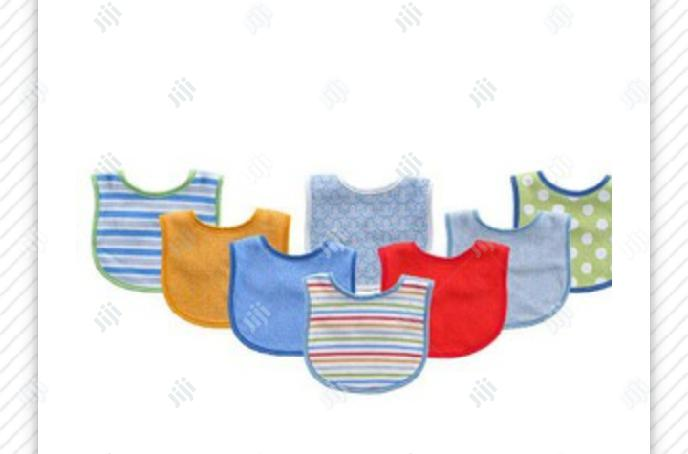 Luvable Friends 8-Pack Colorful Printed Baby Bibs