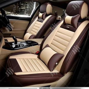 Leather Cream Mixed Color Cushion Car Seat Cover   Vehicle Parts & Accessories for sale in Lagos State, Ikoyi