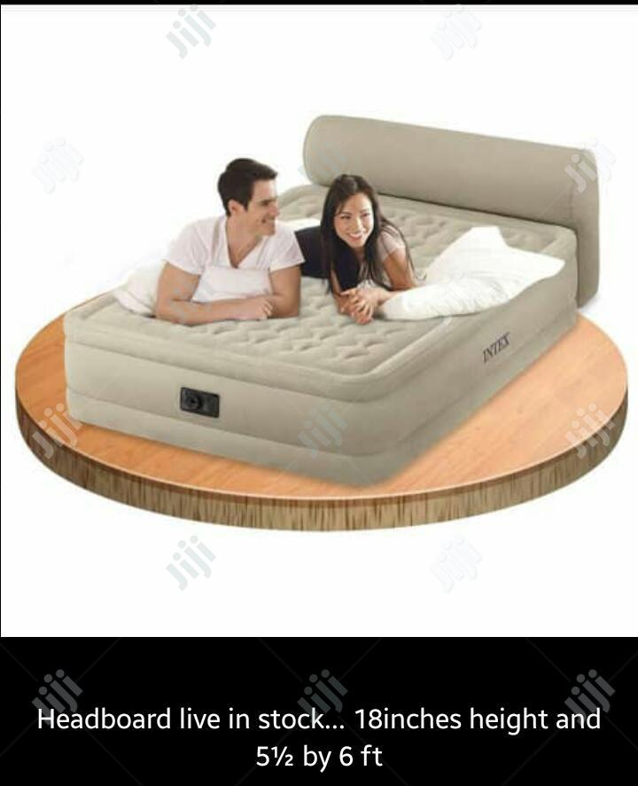 Brand New Intex Inflatable Airbed With Head Board