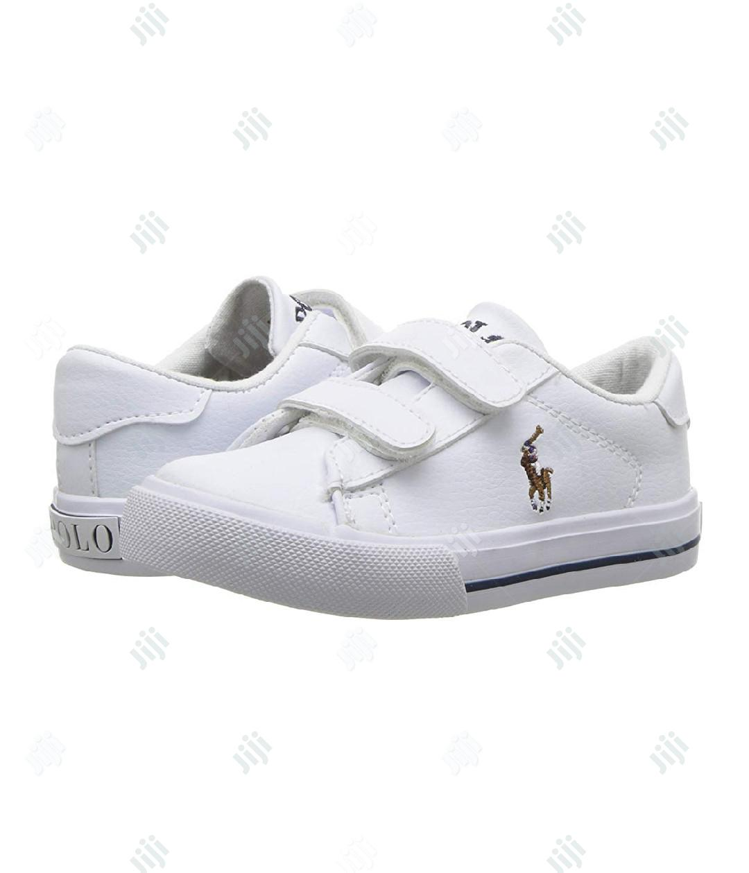 Polo Ralph White Sneakers | Children's Shoes for sale in Ikeja, Lagos State, Nigeria