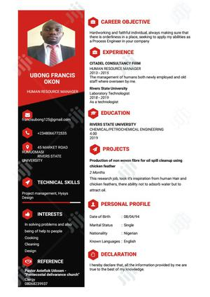 Intern - Oil & Gas and Energy Sectors   Internship CVs for sale in Rivers State, Port-Harcourt