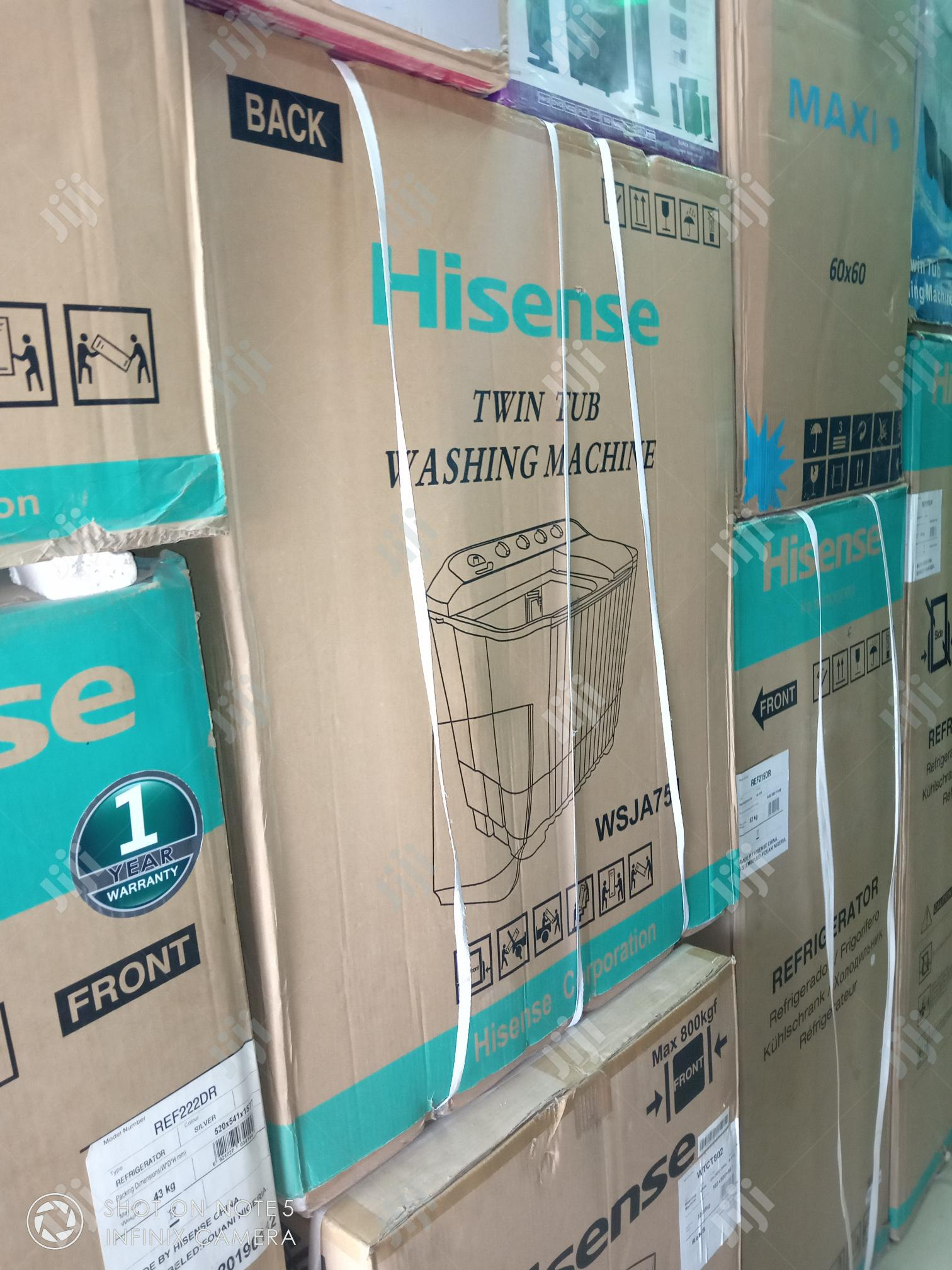 Super Hisease 10kg Washing Twin Tub Wash and Spin + Warranty 1 Years | Home Appliances for sale in Lekki Phase 1, Lagos State, Nigeria