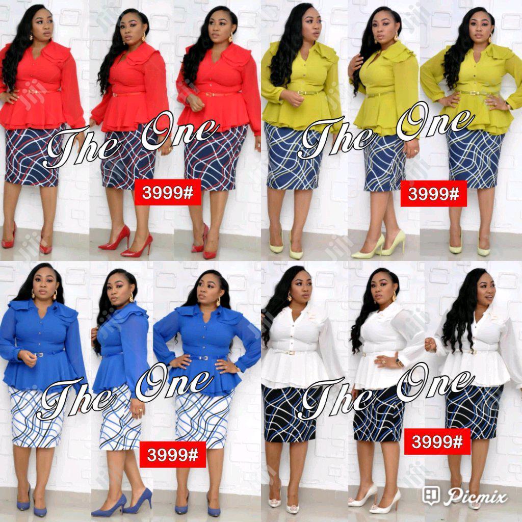 New Women Skirt With Chiffon Blouse