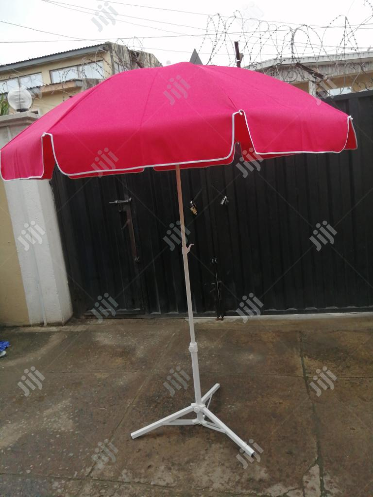 Archive: Quality Parasol Umbrella With Modern Stand For Sale