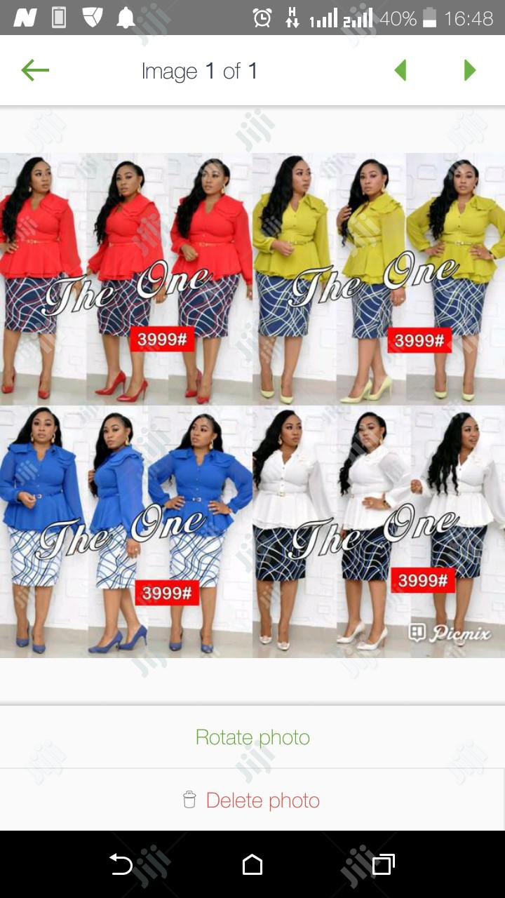 New Women Skirt With Chiffon Blouse   Clothing for sale in Ikeja, Lagos State, Nigeria