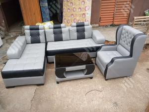 ELEGANT L-Shape With Royal Single and Center Table   Furniture for sale in Lagos State, Ikorodu