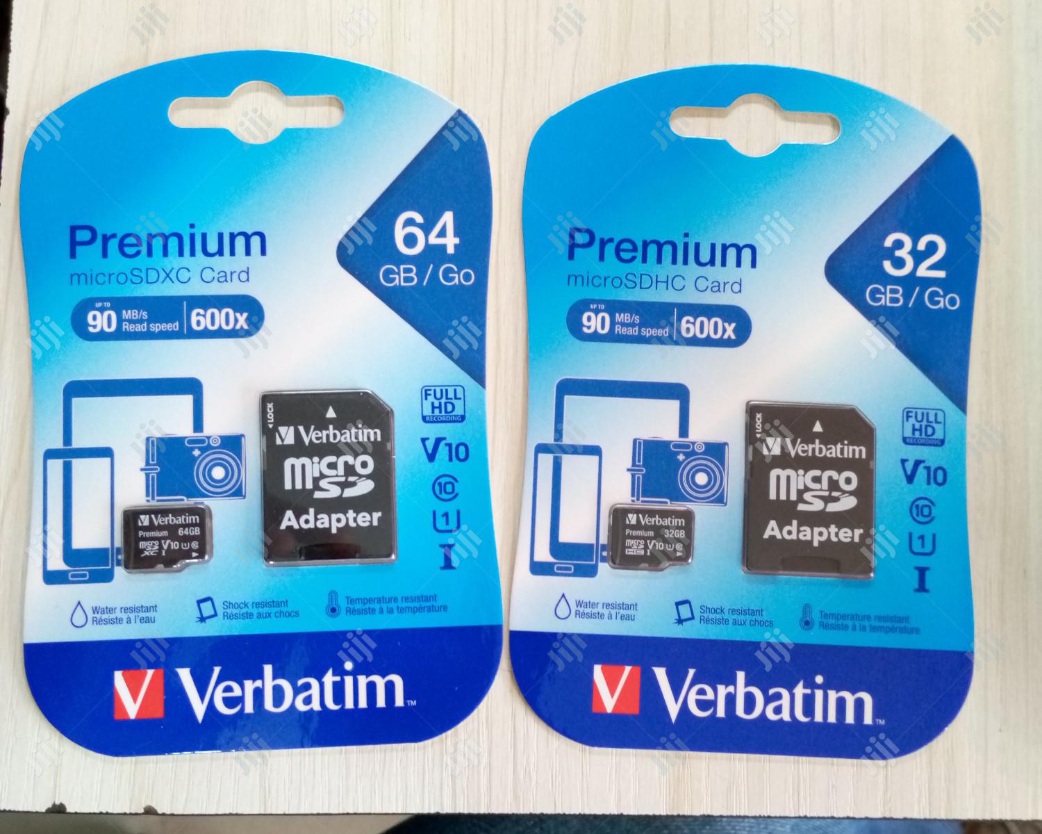 Verbatim Flash Drive And Phone Memory Card 32GB & 64GB | Accessories for Mobile Phones & Tablets for sale in Lagos State, Nigeria