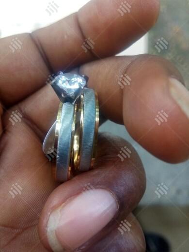 Memolissa Romantic 2pc, 3pc Wedding Rhinestone Clear Crystal Rings Set   Wedding Wear & Accessories for sale in Port-Harcourt, Rivers State, Nigeria