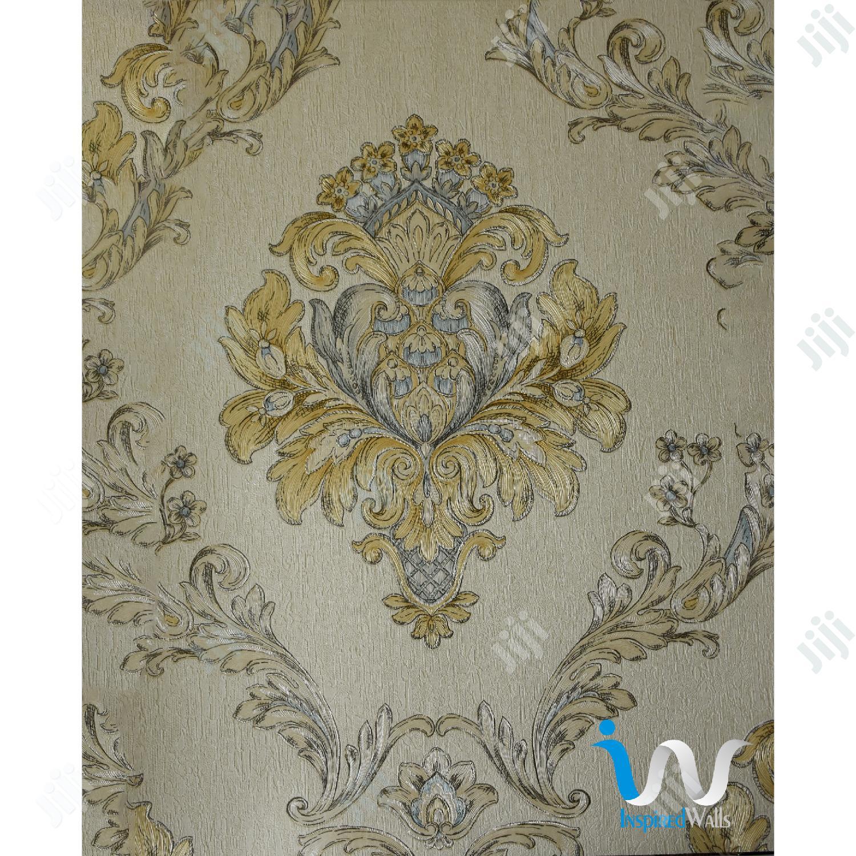 Archive: Blue in Gold II Damask Wallpaper