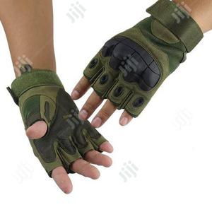 Half Finger Hunting Climbing Cycling Gym & Fitness Gloves (Green)   Safetywear & Equipment for sale in Lagos State, Ikeja