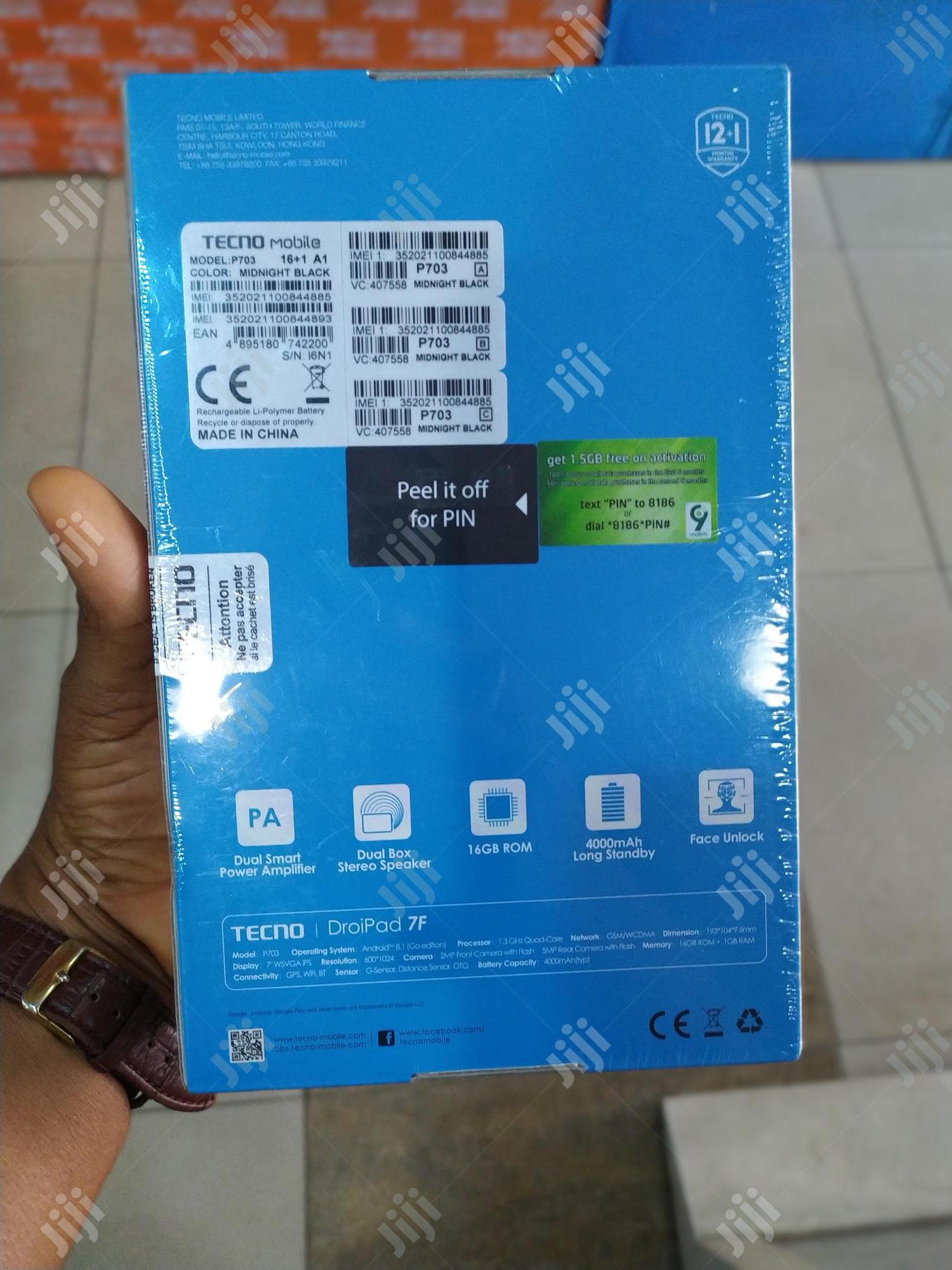New Tecno DroiPad 7E 16 GB   Tablets for sale in Lagos Island (Eko), Lagos State, Nigeria