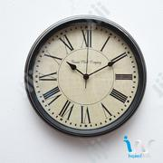 "Antique Geneva Rustic Metal Finish Wall Clock ""30cm"" 