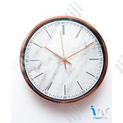 "Rose Gold (White) Metal Finish Wall Clocks ""30cm"" 