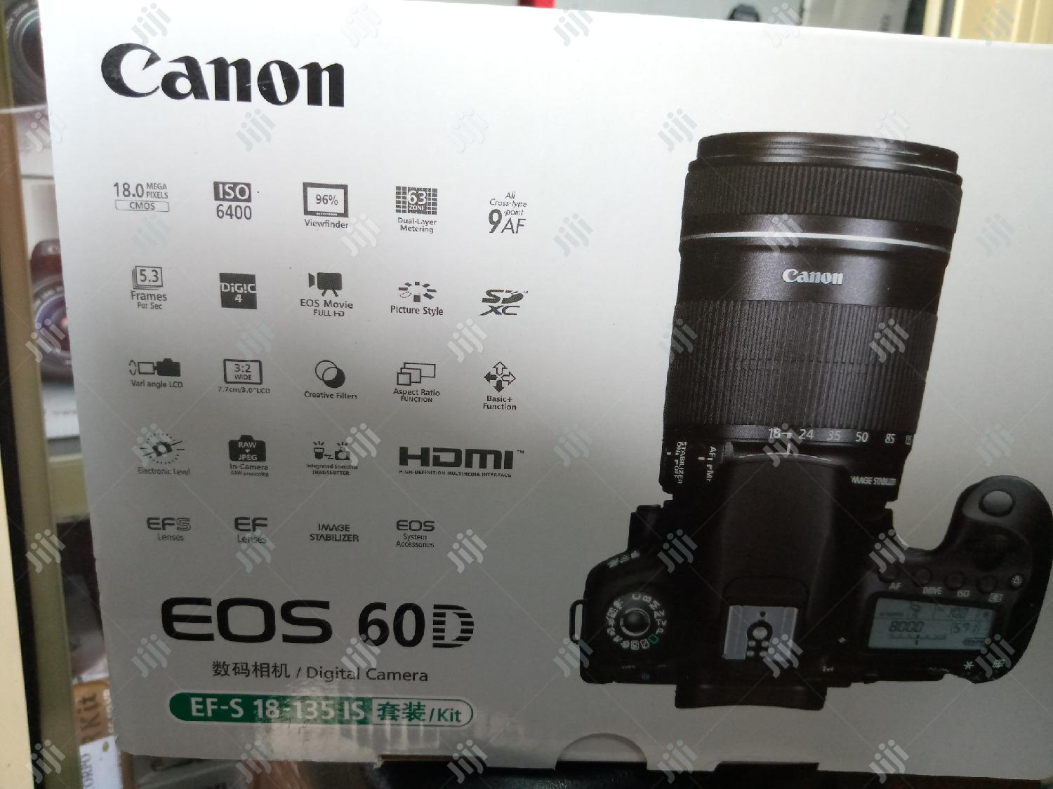 Canon EOS 60D -(18-135) | Photo & Video Cameras for sale in Ikeja, Lagos State, Nigeria