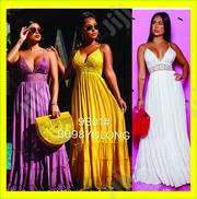 Women Spaghetti Strap Cross Patterned Maxi Dress With Cami Straps | Clothing for sale in Lagos State