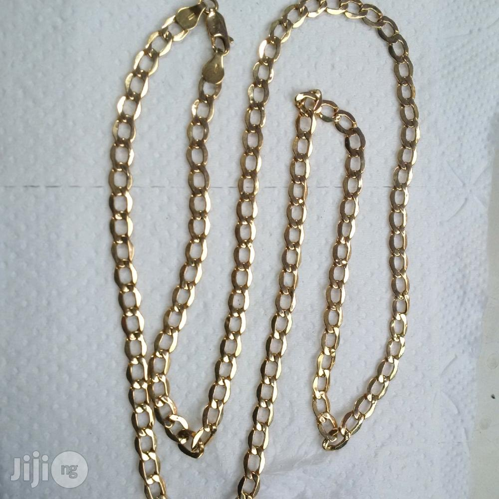 ITALY 750 Solid 18krt Gold Medium Size Cuban Design | Jewelry for sale in Lagos State, Nigeria