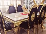 A Brand New Royal Marble Table With Six Chair | Furniture for sale in Lagos State, Ikorodu