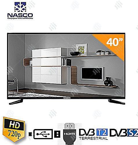 "Nasco 40"" Digital LED Satellite TV With Built In Voltage Regulator"