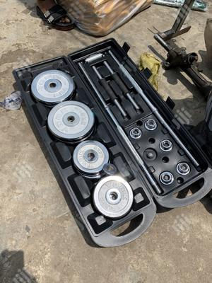 50kg Barbell With Dumbell And Box   Sports Equipment for sale in Enugu State, Enugu