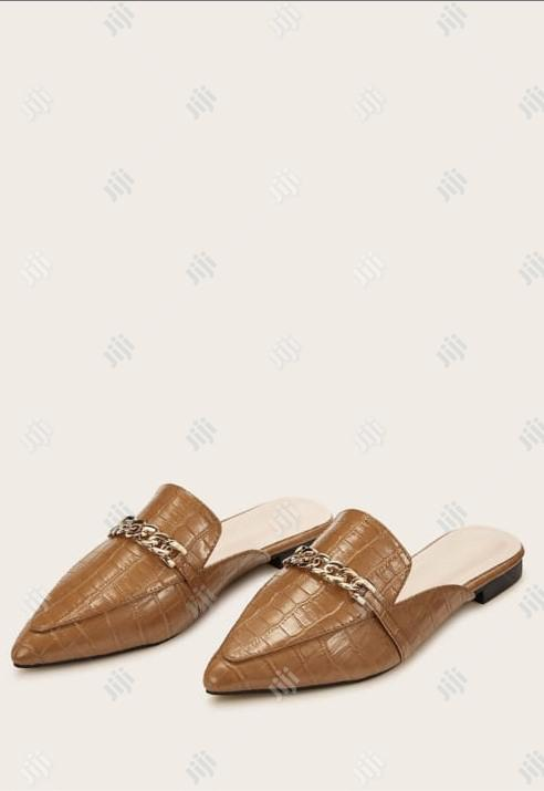 Genuine Brown Leather Ladies Half Shoes | Shoes for sale in Ojodu, Lagos State, Nigeria