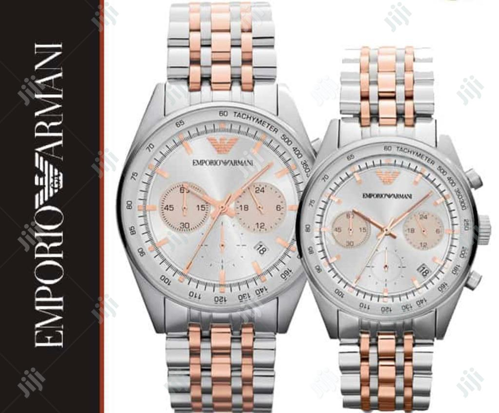 Emporio Armani Chronograph Couple Watch