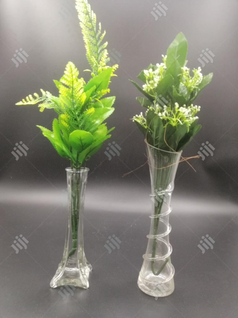 Archive: Glass Vase With Artificial Flower