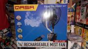 """QASA 16"""" Rechargeable Mist Fan - QRF 7116R 