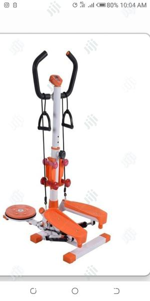 Brand New Standing Stepper With Twister and Aerobic Dumbbell | Sports Equipment for sale in Lagos State, Surulere
