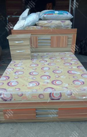 (4by6)Bed With Mattress and One Side Drower | Furniture for sale in Lagos State, Ojo