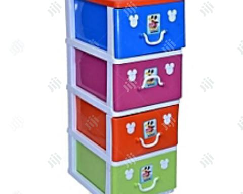 Mixed Colours Detachable Plastic Cabinet Baby Wardrobe