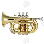 Mini Pocket Trumpet Bb Flat Brass Wind Instrument | Musical Instruments & Gear for sale in Lagos State, Ojo