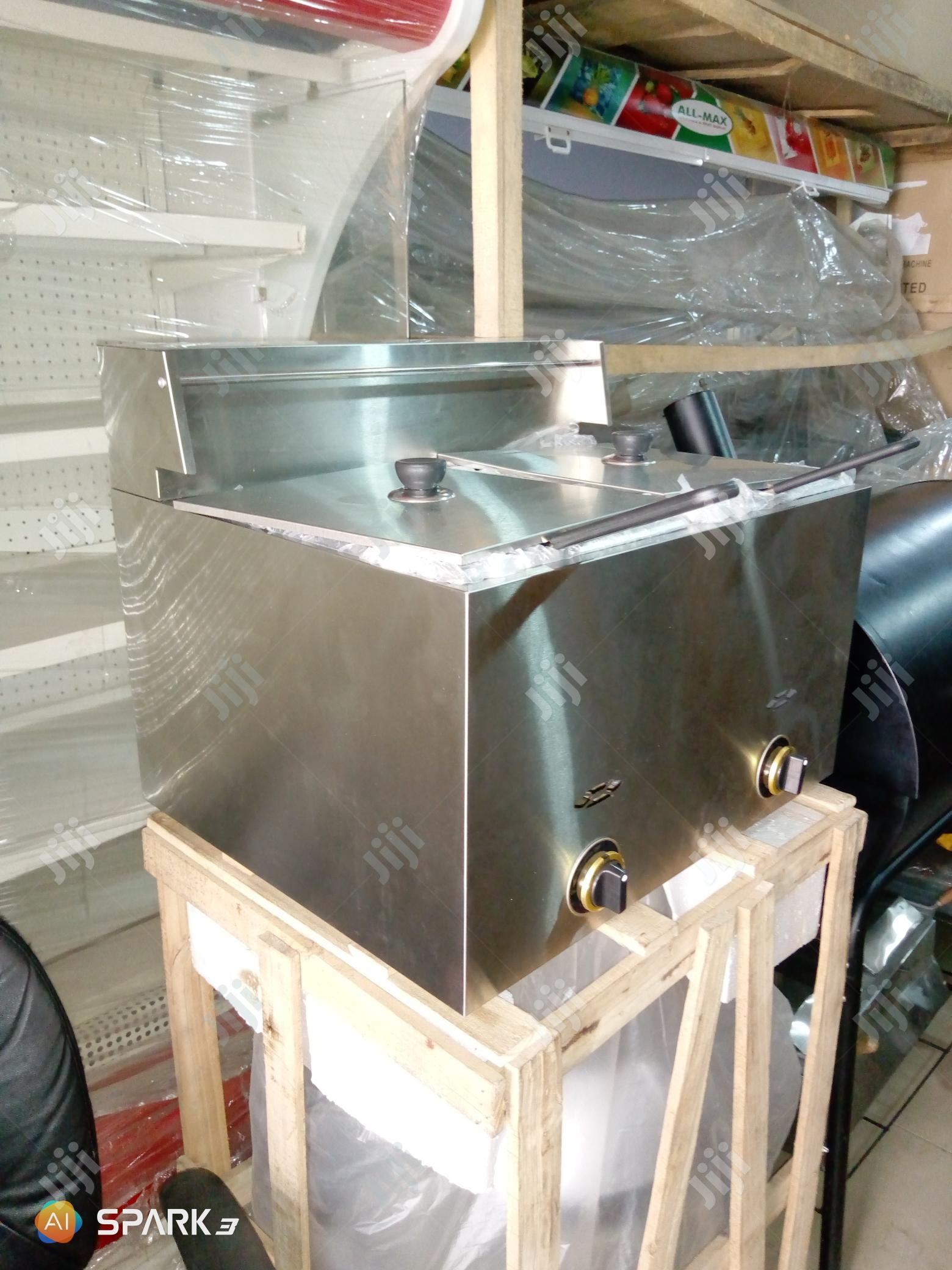 Gas Deep Fryer Double Baskets 12litres