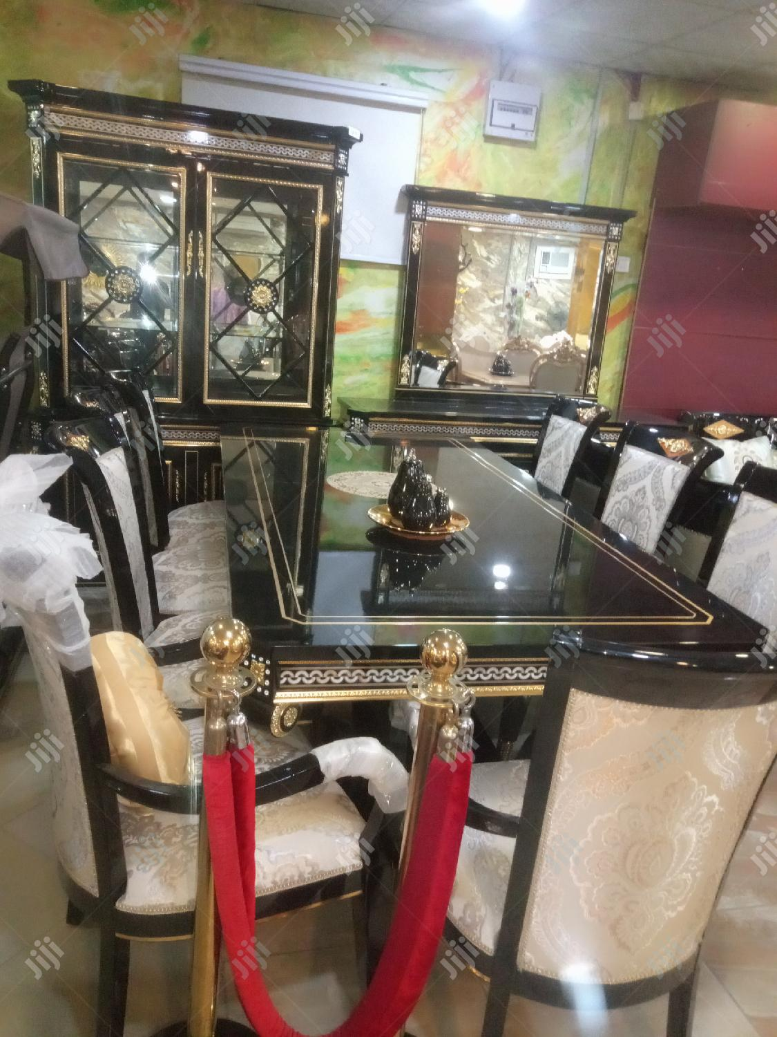 Imported Versace Family Dining Table.With the Full Set of It