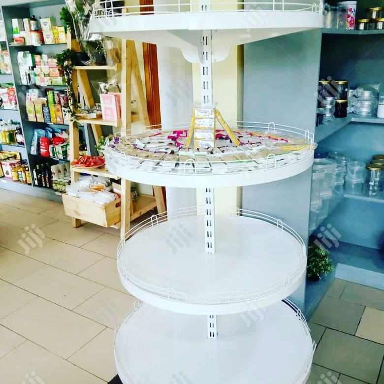Circular Supermarket Display Shelf