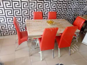 Marble Dinning Table With 6 Dinning Chairs | Furniture for sale in Lagos State, Ikeja