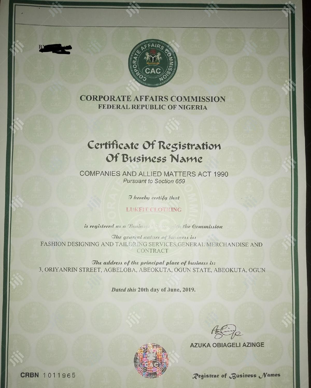 Company Registration (CAC)