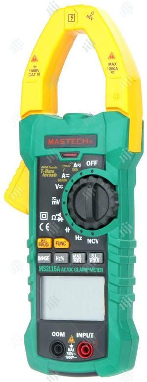 Mastech Ms2115a True Rms Digital Dc/Ac Clamp Meters Multimeter | Measuring & Layout Tools for sale in Lagos State, Ikeja