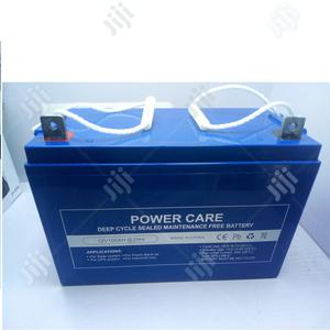 Power Care 12v100ah Deep Cycle Sealed Maintanance Battery | Solar Energy for sale in Lagos State, Alimosho
