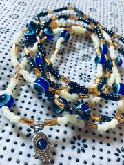 Fortified Blue Eye Waist Bead With the Hands of Hamsa | Jewelry for sale in Lagos State