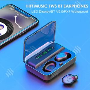 F9 Bluetooth 5.0 TWS Earbud Headset With Power Bank Case   Headphones for sale in Lagos State, Ikeja