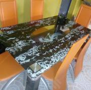 Quality Strong Six Seater Tinted Glass Dining Table | Furniture for sale in Imo State, Njaba