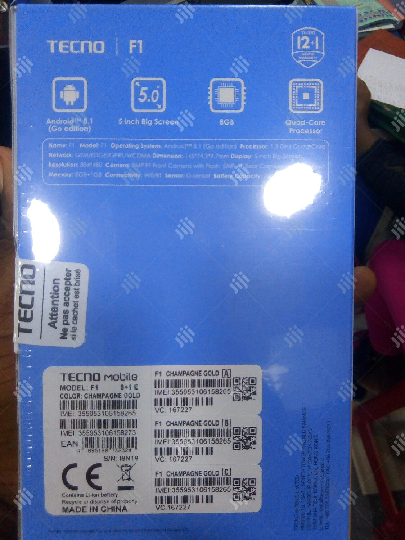 New Tecno F1 8 GB Black   Mobile Phones for sale in Ikeja, Lagos State, Nigeria