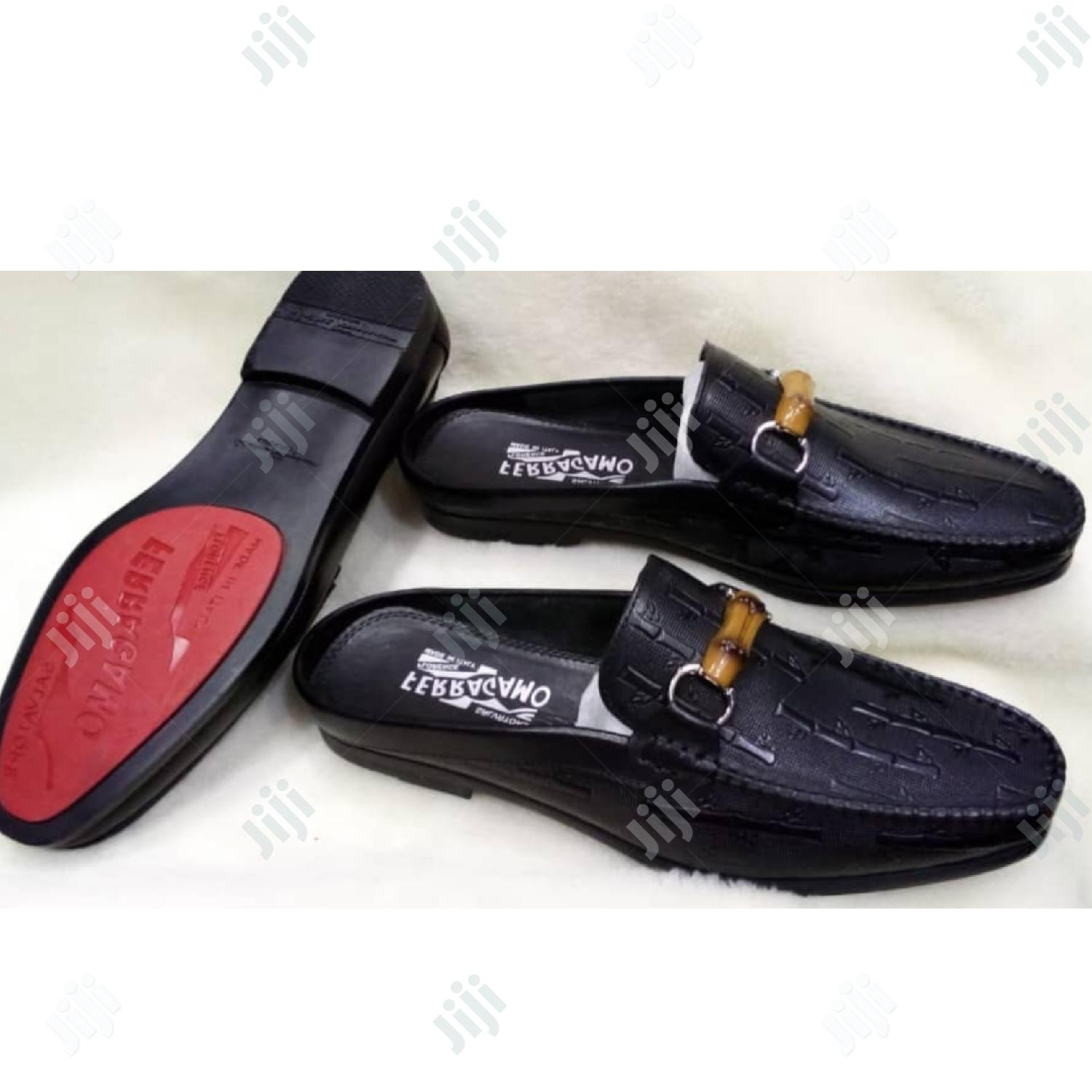 Quality Ferragamo Half Leather Shoe For Men | Shoes for sale in Ikoyi, Lagos State, Nigeria