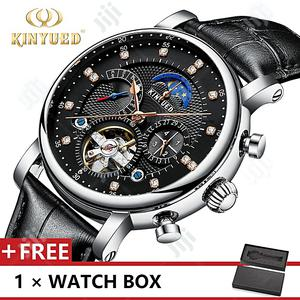 Kinyued Leather Band Mechanical Male Watches   Watches for sale in Lagos State, Lekki