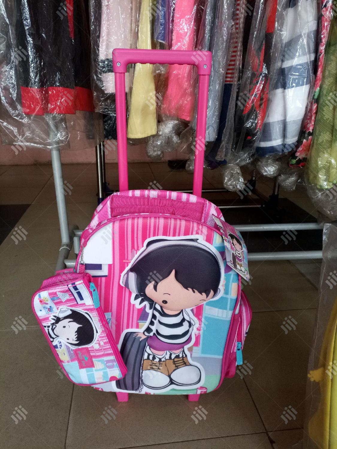 3 In 1 UK Children Cartoon Character Trolley School Bag | Babies & Kids Accessories for sale in Lagos State, Nigeria