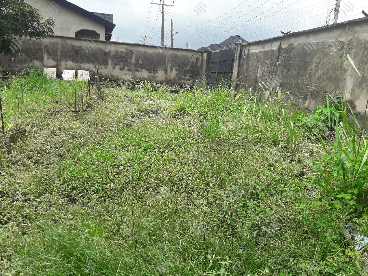 Archive: Plot of Dry Land With Demolishable Bungalow At Sholuyi Gbagada For Sale.