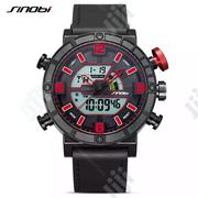 SINOBI Mens Watches Brand Luxury Dual Display Led Digital Watch | Watches for sale in Benue State, Makurdi