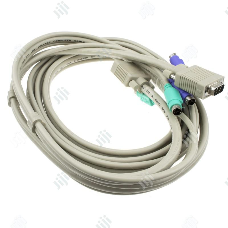 KVM Switch Cable/KVM VGA Male To Male PS2 Mouse Keyboard Cable 1.5M | Accessories & Supplies for Electronics for sale in Ikeja, Lagos State, Nigeria